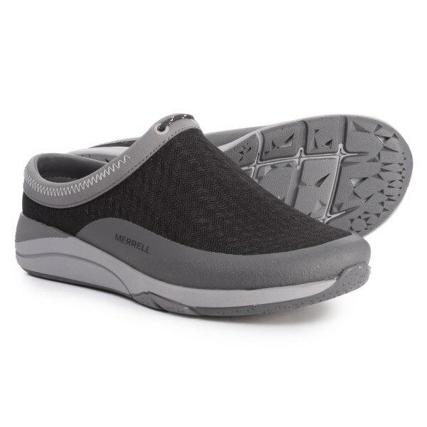 (取寄)メレル レディース アップロード スライド シューズ Merrell Women Applaud Slide Shoes Black/Grey Mesh
