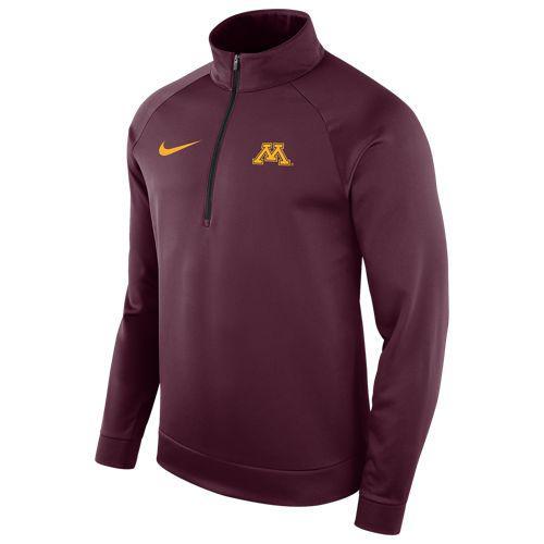 (取寄)ナイキ メンズ カレッジ サーマ ロングスリーブ 1/2 ジップ トップ ミネソタ ゴーファーズ Nike Men's College Therma L/S 1/2 Zip Top ミネソタ ゴーファーズ Maroon