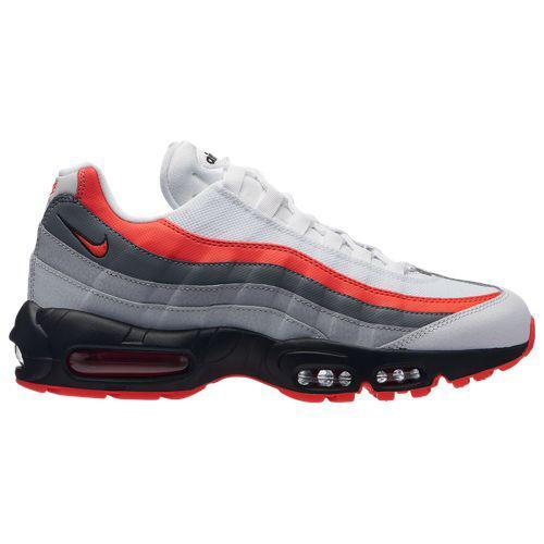 (取寄)ナイキ メンズ エア マックス 95 Nike Men's Air Max 95 White Bright Crimson Black Pure Platinum