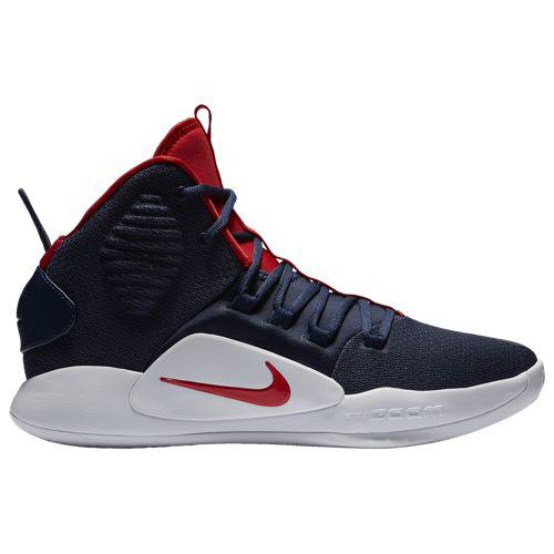 (取寄)ナイキ メンズ ハイパーダンク 10 ミッド Nike Men's Hyperdunk X Mid Midnight Navy University Red White