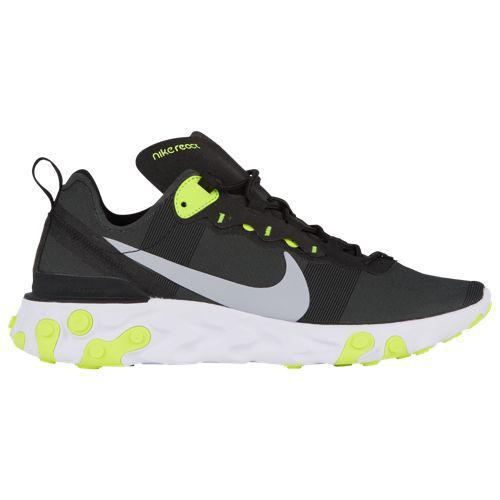 (取寄)ナイキ メンズ リアクト エレメント 55 Nike Men's React Element 55 Black Volt Cool Grey White