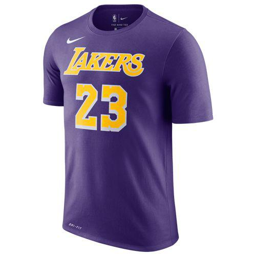 newest 5e98f 4fed8 NIKE Nike men T-shirt LA Lakers Revlon James Nike Men's NBA Player Name &  Number T-Shirt Lebron James Court Purple
