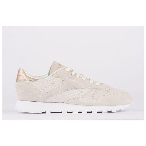 (取寄)リーボック レディース クラシック レザー Reebok Women's Classic Leather White Chalk Sleek Metallic