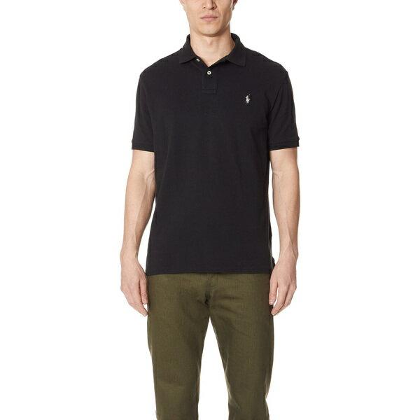 【エントリーでポイント10倍】(取寄)ポロ ラルフローレン カスタム スリム フィット ポロ シャツ Polo Ralph Lauren Custom Slim Fit Polo Shirt Black