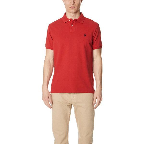 【エントリーでポイント10倍】(取寄)ポロ ラルフローレン カスタム スリム フィット ポロ シャツ Polo Ralph Lauren Custom Slim Fit Polo Shirt Red