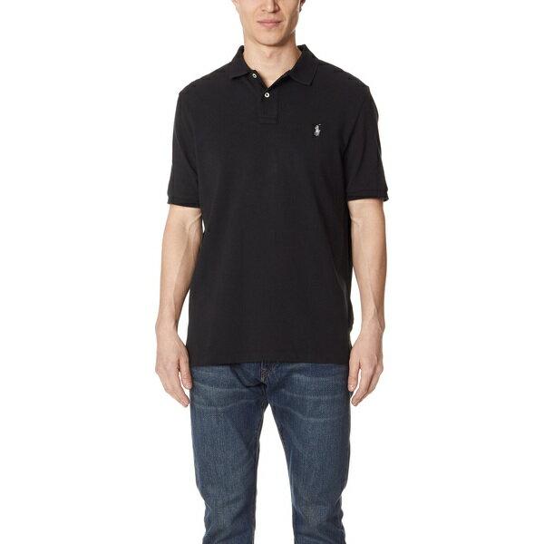 【エントリーでポイント10倍】(取寄)ポロ ラルフローレン クラシック フィット ポロ シャツ Polo Ralph Lauren Classic Fit Polo Shirt Black