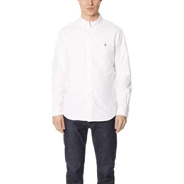 【エントリーでポイント10倍】(取寄)ポロ ラルフローレン スタンダード フィット オックスフォード スポーツ シャツ Polo Ralph Lauren Standard Fit Oxford Sport Shirt White