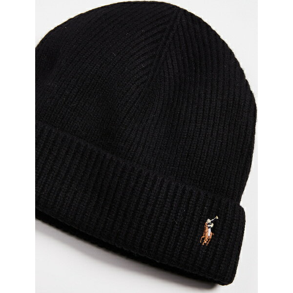 8aad95f9bdc (order) ポロラルフローレンシグニチャーメリノカフハット Polo Ralph Lauren Signature Merino Cuff Hat  PoloBlack