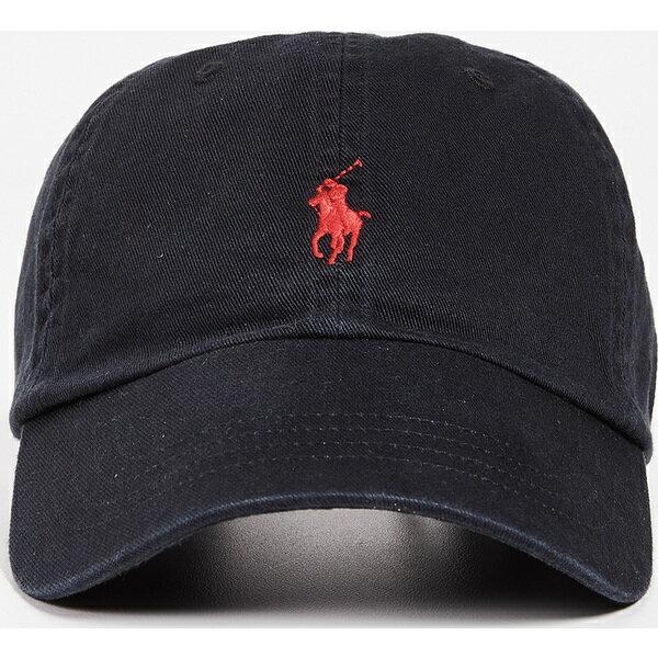 (取寄)ポロ ラルフローレン クラシック ポニー キャップ Polo Ralph Lauren Classic Pony Cap BlackRed