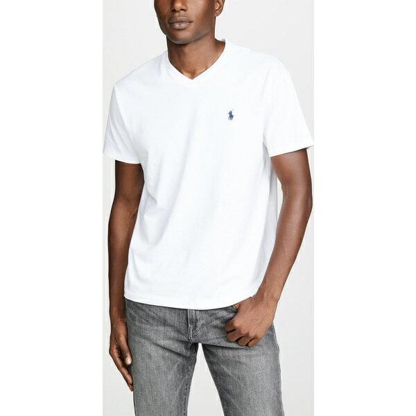(取寄)ポロ ラルフローレン V ネック クラシック フィット ティー シャツ Polo Ralph Lauren V Neck Classic Fit Tee Shirt White