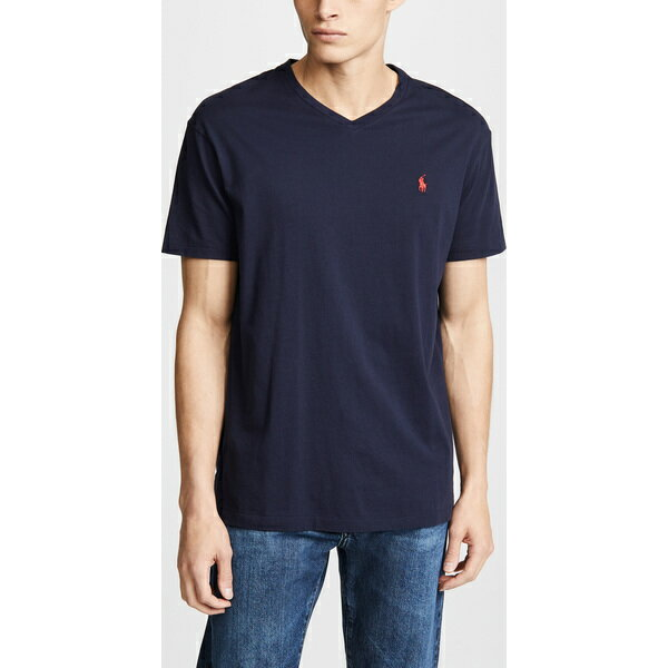 (取寄)ポロ ラルフローレン V ネック クラシック フィット ティー シャツ Polo Ralph Lauren V Neck Classic Fit Tee Shirt Ink