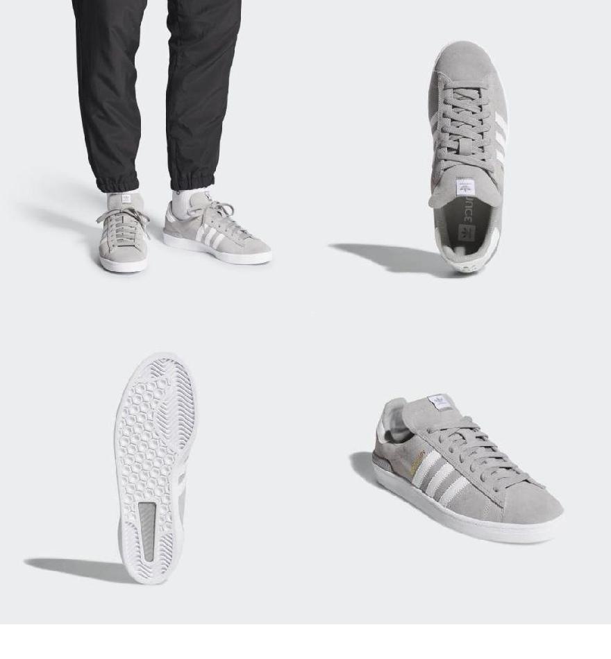 (索取)愛迪達原始物女士掃描路徑Adv鞋adidas originals Women Campus ADV Shoes Multi Solid Grey Cloud  White Cloud White 43040bff0