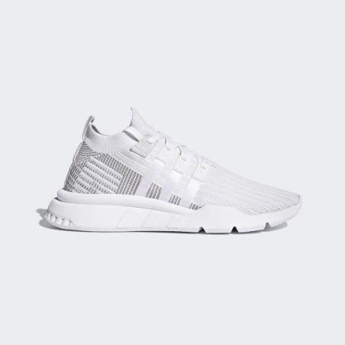 (取寄)アディダス オリジナルス メンズ EQT サポート ミッド Adv プライムニット シューズ adidas originals Men's EQT Support Mid ADV Primeknit Shoes Cloud White / Cloud White / Grey
