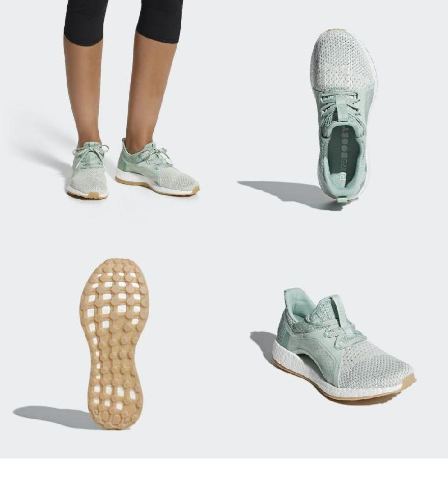 1805613949032 (order) Adidas lady's pure boost X クライマランニングシューズ adidas Women Pureboost X  Clima Shoes Ash Green / Silver Metallic / Running White