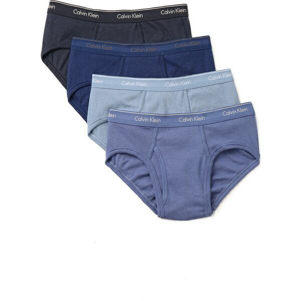 (取寄)カルバンクライン アンダーウェア メンズ 4 パック コットン クラシック ロウ ライズ ヒップ ブリーフ Calvin Klein Underwear Men's 4 Pack Cotton Classic Low Rise Hip Briefs BlueMulti