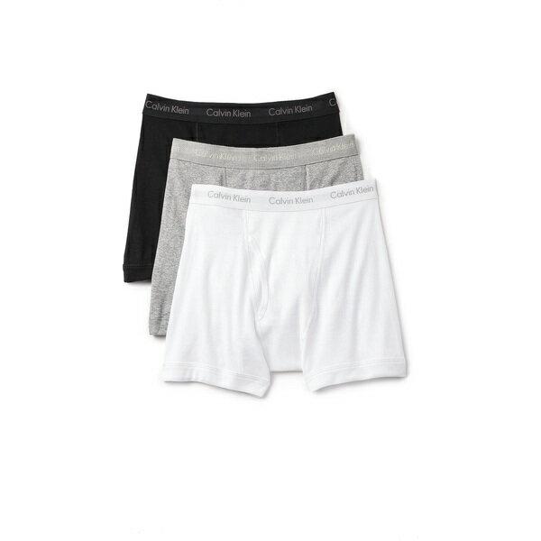 (取寄)カルバンクライン アンダーウェア メンズ 3 パック コットン クラシック ボクサー ブリーフ Calvin Klein Underwear Men's 3 Pack Cotton Classic Boxer Briefs Multi