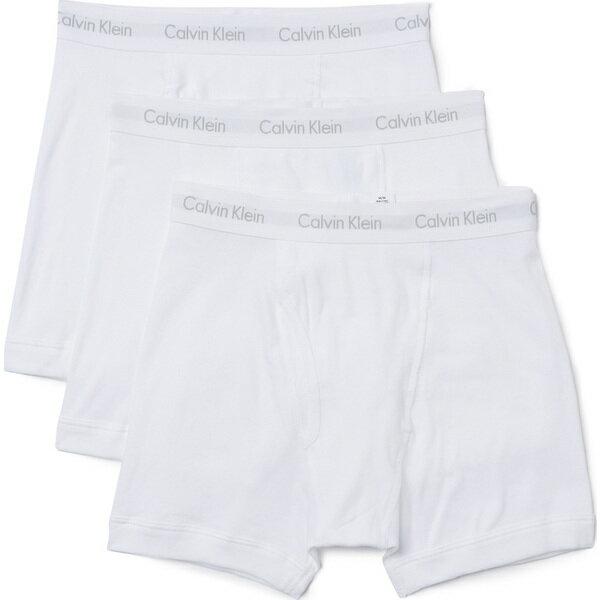 (取寄)カルバンクライン アンダーウェア メンズ 3 パック コットン クラシック ボクサー ブリーフ Calvin Klein Underwear Men's 3 Pack Cotton Classic Boxer Briefs White