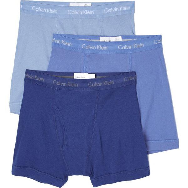 (取寄)カルバンクライン アンダーウェア メンズ 3 パック コットン クラシック ボクサー ブリーフ Calvin Klein Underwear Men's 3 Pack Cotton Classic Boxer Briefs BlueAssorted