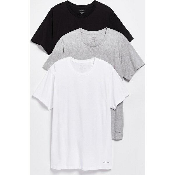 (取寄)カルバンクライン アンダーウェア メンズ 3 パック コットン クラシック クルー ネック Tシャツ Calvin Klein Underwear Men's 3 Pack Cotton Classic Crew Neck T-Shirts Multi