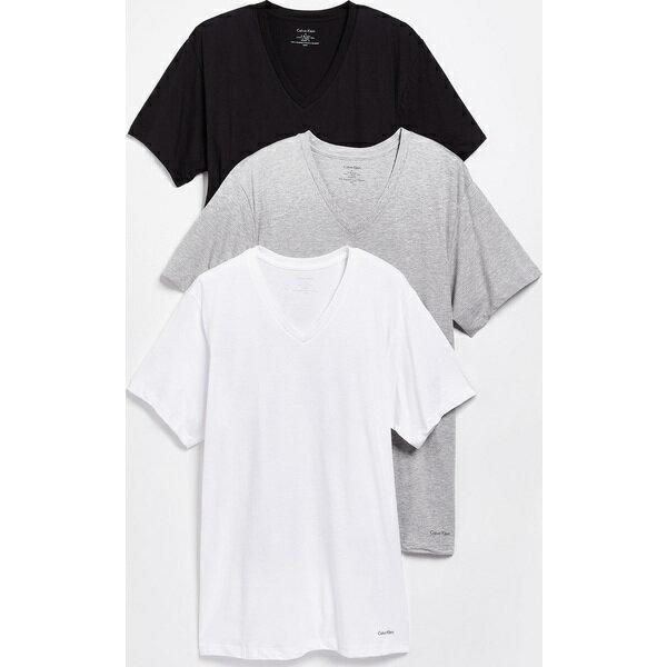 (取寄)カルバンクライン アンダーウェア メンズ 3 パック コットン クラシック Vネック Tシャツ Calvin Klein Underwear Men's 3 Pack Cotton Classic V-Neck T-Shirts Multi