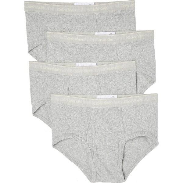 (取寄)カルバンクライン アンダーウェア メンズ 4 パック コットン クラシック ブリーフ Calvin Klein Underwear Men's 4 Pack Cotton Classic Briefs GreyHeather