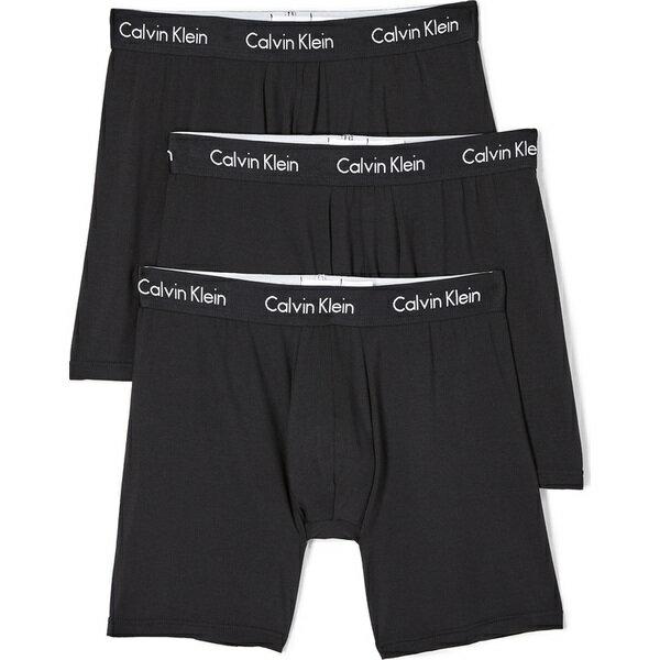 【マラソン ポイント10倍】(取寄)カルバンクライン アンダーウェア メンズ 3 パック ボディ モーダル ボクサー ブリーフ Calvin Klein Underwear Men's 3 Pack Body Modal Boxer Briefs Black