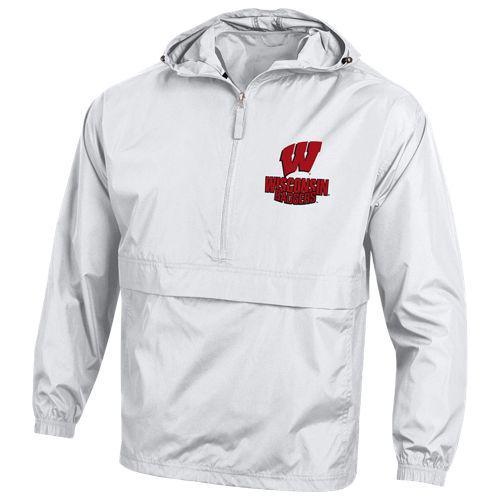 (取寄)チャンピオン メンズ カレッジ ジャケット ウィスコンシン バッジャーズ Champion Men's College Jacket ウィスコンシン バッジャーズ White
