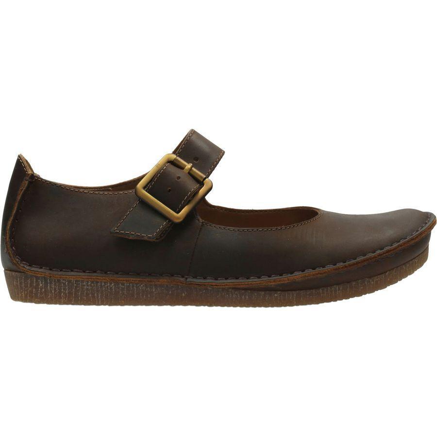 (取寄)クラークス レディース ジェニー ジューン シューズ Clarks Women Janey June Shoe Beeswax Leather