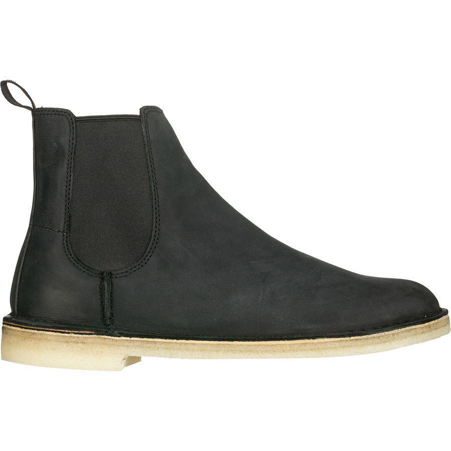 (取寄)クラークス メンズ デザート ピーク ブーツ Clarks Men's Desert Peak Boot Black Leather