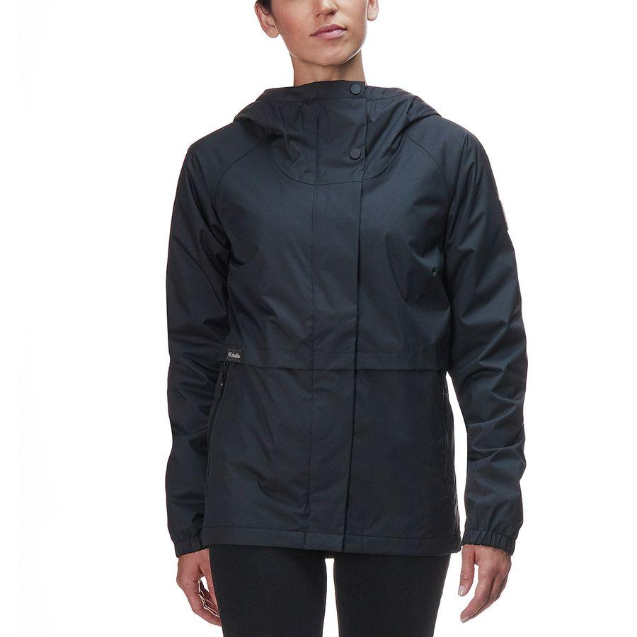 (取寄)コロンビア レディース ヘルベティア ハイツ レイン ジャケット Columbia Women Helvetia Heights Rain Jacket Black