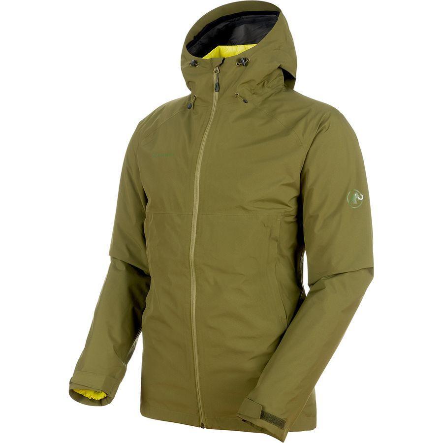 (取寄)マムート メンズ コンベイ 3-In-1HS フーデッド ジャケット Mammut Men's Convey 3-In-1 HS Hooded Jacket Clover/Canary