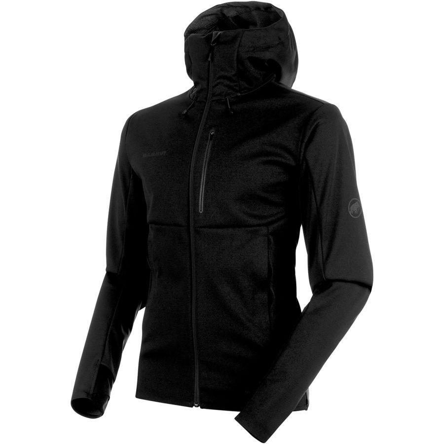 (取寄)マムート メンズ アルティメイト V SO フーデッド ジャケット Mammut Men's Ultimate V SO Hooded Jacket Black/Black