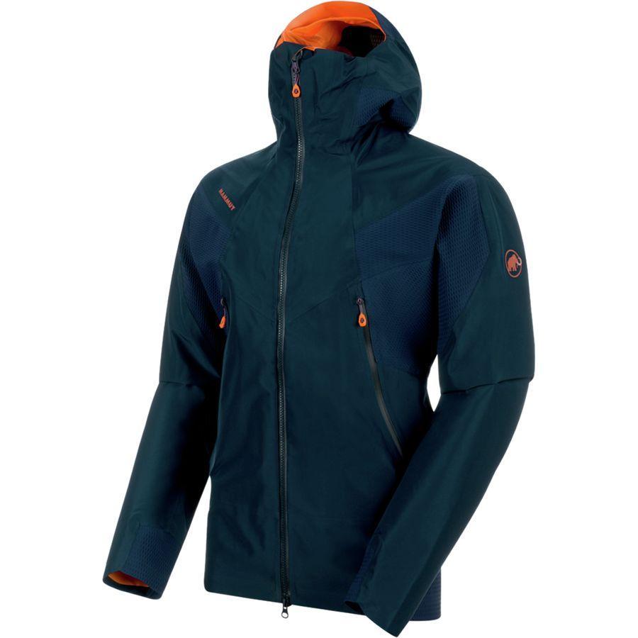 (取寄)マムート メンズ ノードワンド HS フレックス フーデッド ジャケット Mammut Men's Nordwand HS Flex Hooded Jacket Night