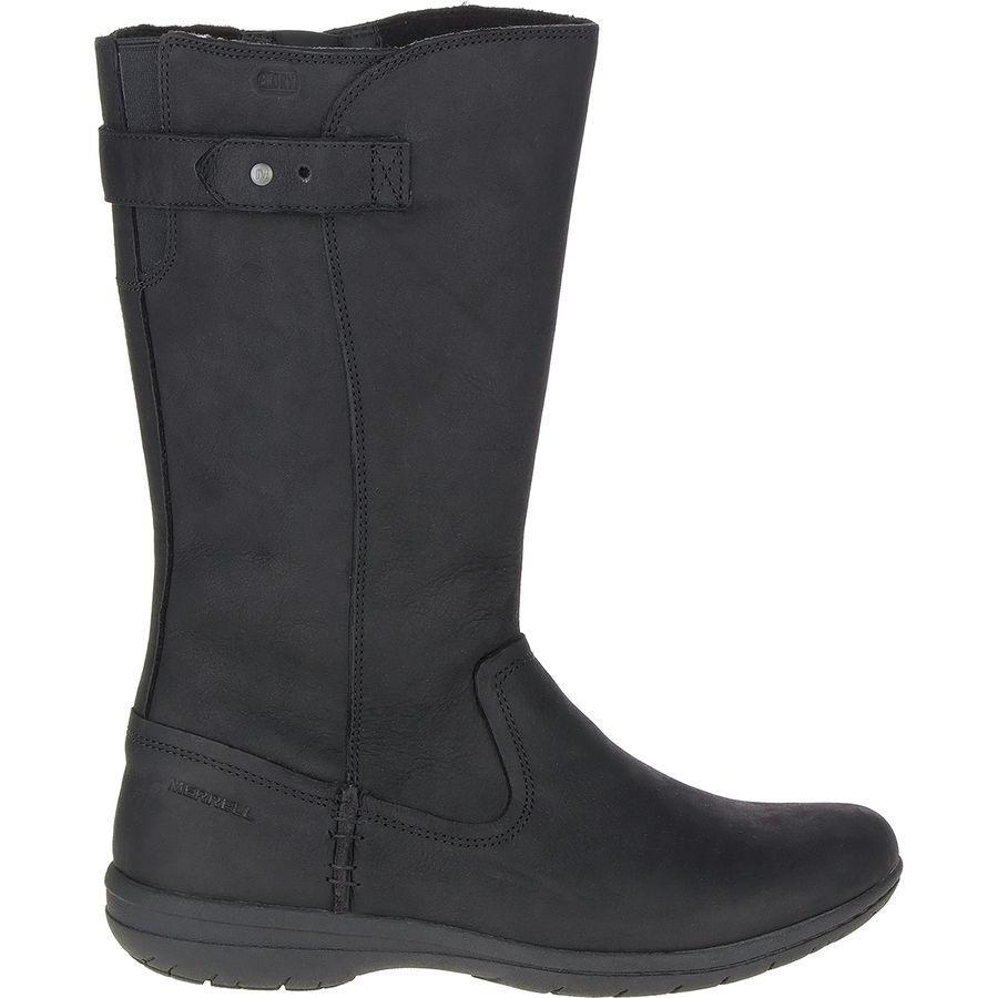 (取寄)メレル レディース アンコール カシー トール ブーツ Merrell Women Encore Kassie Tall Boot Black