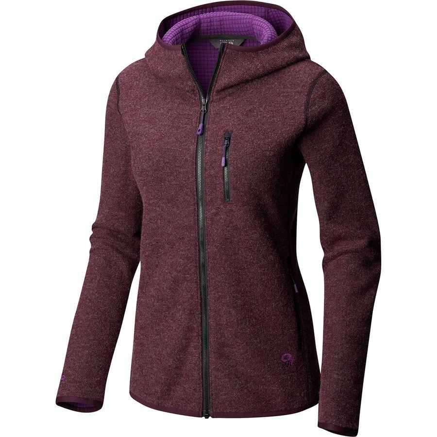 (取寄)マウンテンハードウェア レディース ハッチャー フルジップ フーデッド ジャケット Mountain Hardwear Women Hatcher Full-Zip Hooded Jacket Dark Tannin