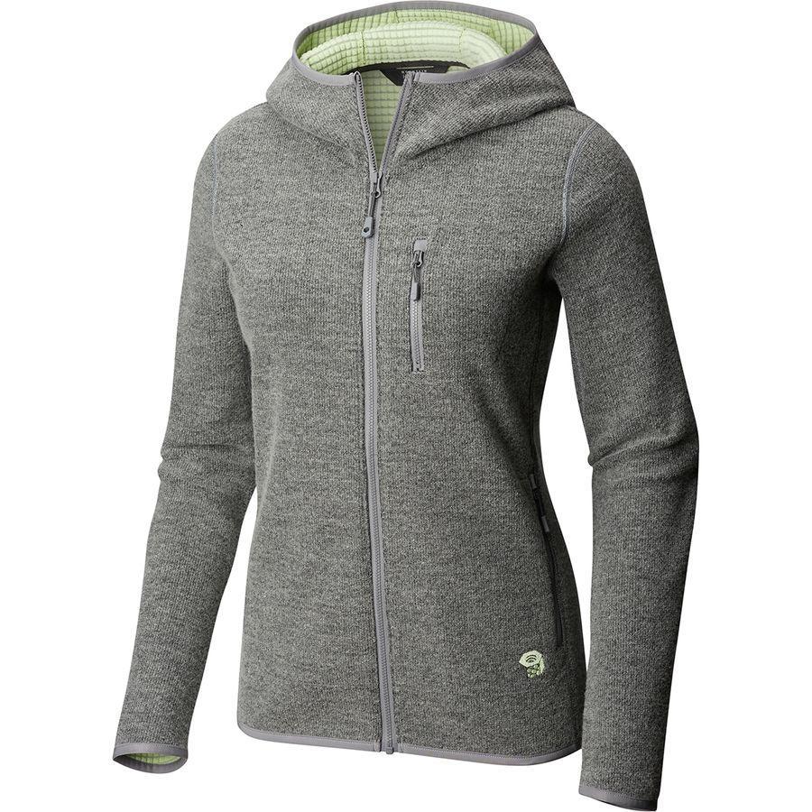 (取寄)マウンテンハードウェア レディース ハッチャー フルジップ フーデッド ジャケット Mountain Hardwear Women Hatcher Full-Zip Hooded Jacket Manta Grey