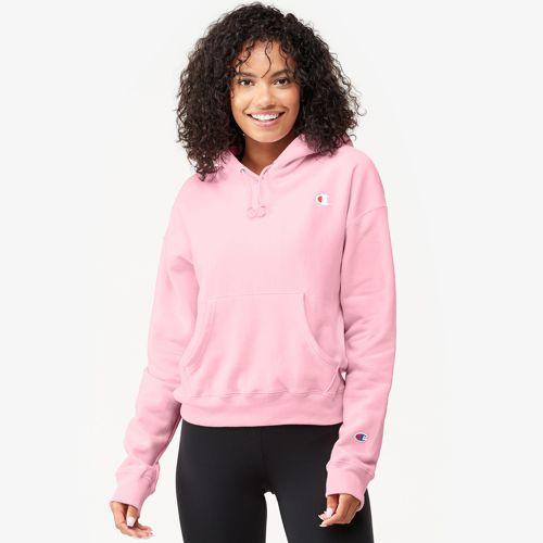 (取寄)チャンピオン レディース ロゴ プルオーバー フーディ Champion Women's Logo Pullover Hoodie Pink Candy