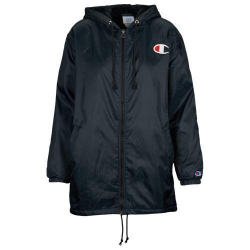 (取寄)チャンピオン レディース シェルパ ライン コーチ ジャケット Champion Women's Sherpa Lined Coaches Jacket Black