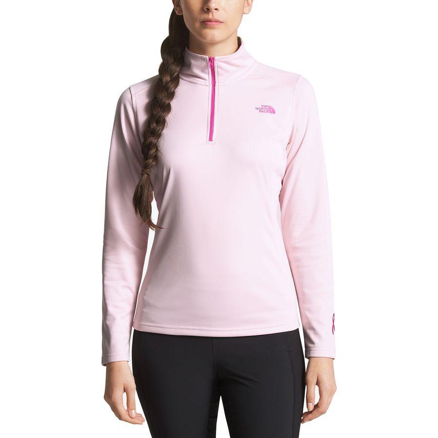 (取寄)ノースフェイス レディース ピンク リボン テック グレイシャー 1/4-Zip ジャケット The North Face Women Pink Ribbon Tech Glacier 1/4-Zip Jacket Purdy Pink/Raspberry Rose