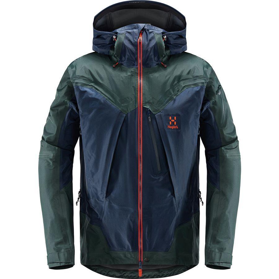 (取寄)ホグロフス メンズ ロック サミット ジャケット Haglofs Men's Roc Summit Jacket Tarn Blue/Mineral