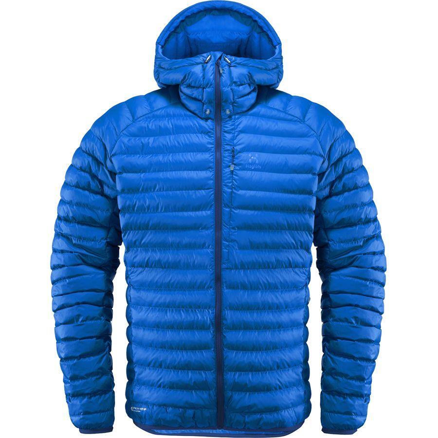 (取寄)ホグロフス メンズ エッセンス ミミック インサレーテッド フーデッド ジャケット Haglofs Men's Essens Mimic Insulated Hooded Jacket Cobalt Blue/Tarn Blue