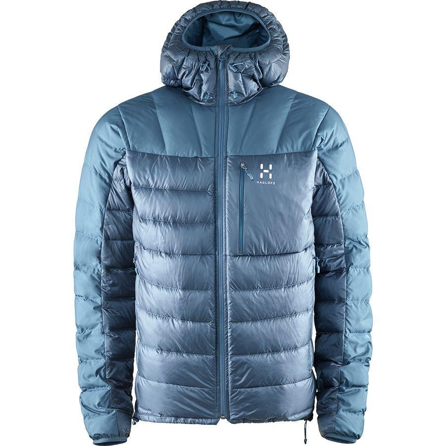 (取寄)ホグロフス メンズ ビヴィー ダウン フーデッド ジャケット Haglofs Men's Bivvy Down Hooded Jacket Blue Ink