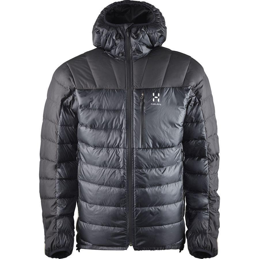(取寄)ホグロフス メンズ ビヴィー ダウン フーデッド ジャケット Haglofs Men's Bivvy Down Hooded Jacket True Black