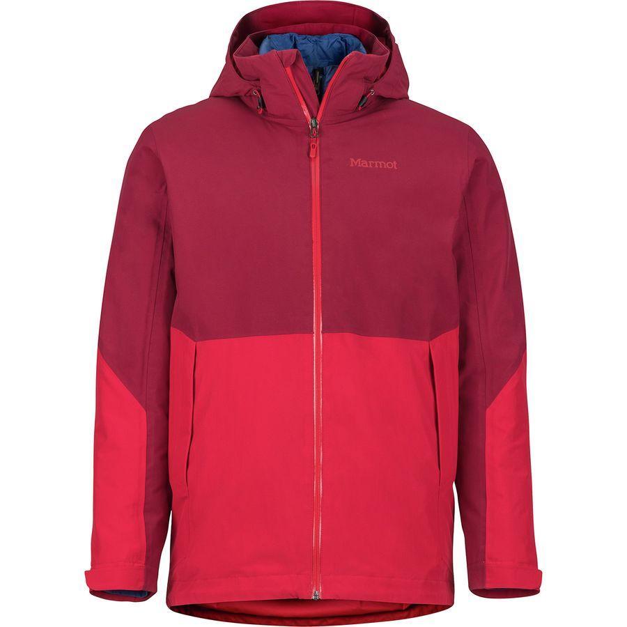 (取寄)マーモット メンズ フェザーレス コンポーネント ジャケット Marmot Men's Featherless Component Jacket Brick/Team Red