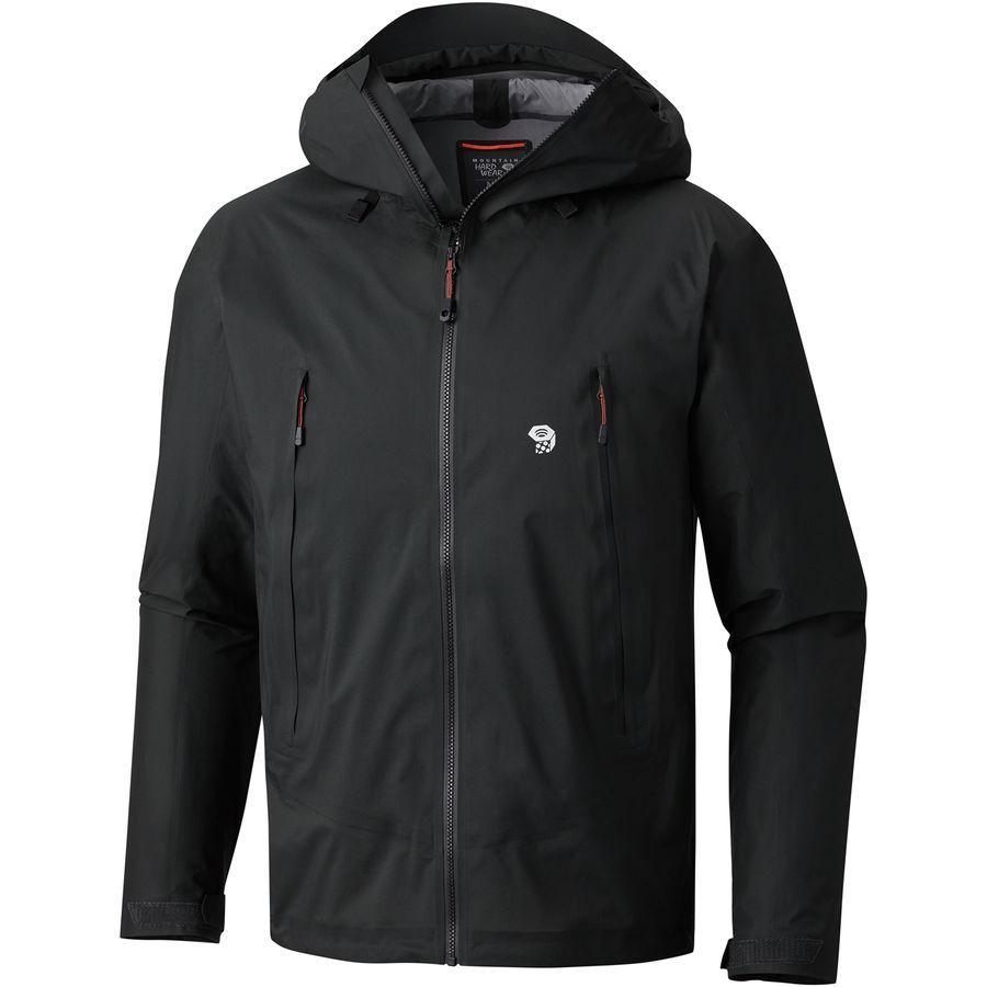 (取寄)マウンテンハードウェア メンズ クエーザー ライト 2 ジャケット Mountain Hardwear Men's Quasar Lite II Jacket Stealth Grey