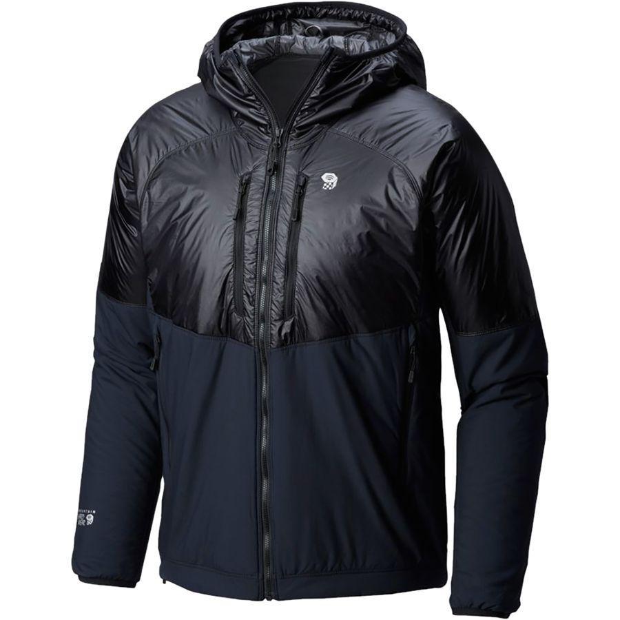 (取寄)マウンテンハードウェア メンズ Korストラタ アルパイン フーデッド ジャケット Mountain Hardwear Men's Kor Strata Alpine Hooded Jacket Black