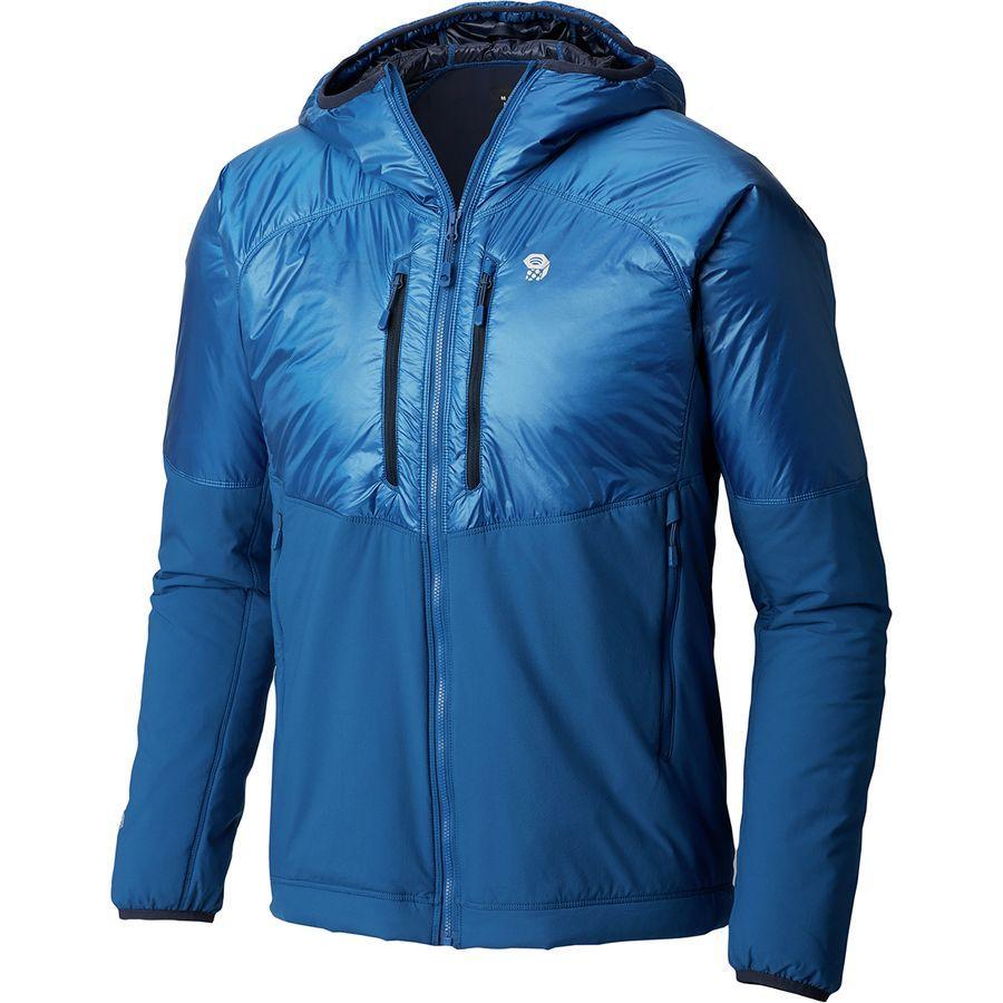 (取寄)マウンテンハードウェア メンズ Korストラタ アルパイン フーデッド ジャケット Mountain Hardwear Men's Kor Strata Alpine Hooded Jacket Nightfall Blue
