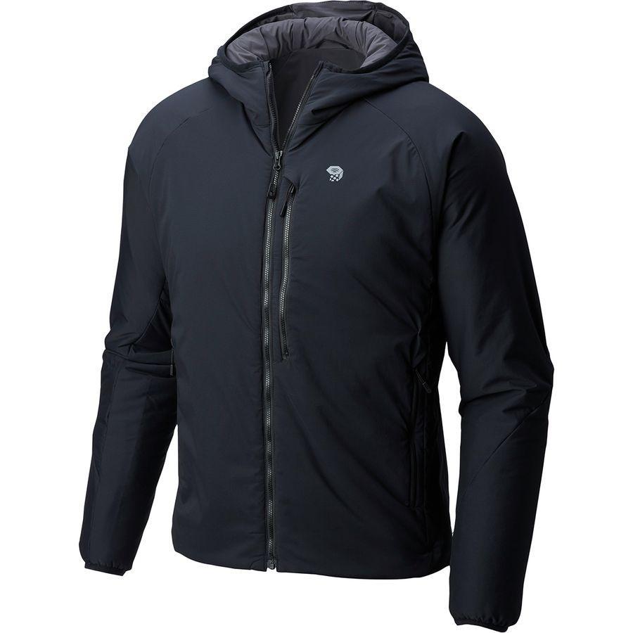 (取寄)マウンテンハードウェア メンズ Korストラタ フーデッド ジャケット Mountain Hardwear Men's Kor Strata Hooded Jacket Black