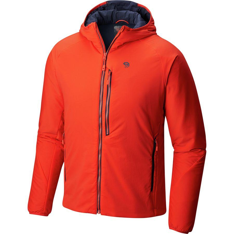 (取寄)マウンテンハードウェア メンズ Korストラタ フーデッド ジャケット Mountain Hardwear Men's Kor Strata Hooded Jacket Fiery Red
