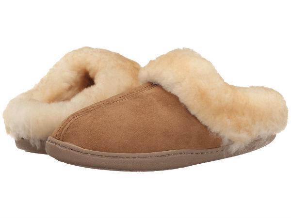 (取寄)ミネトンカ レディース シープスキン ミュール Minnetonka Women Sheepskin Mule Golden Tan